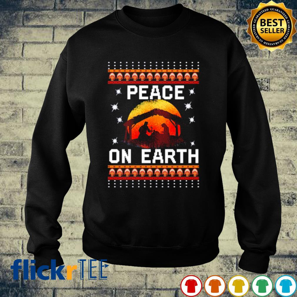 Nativity Jesus Peace On Earth Christmas s sweater