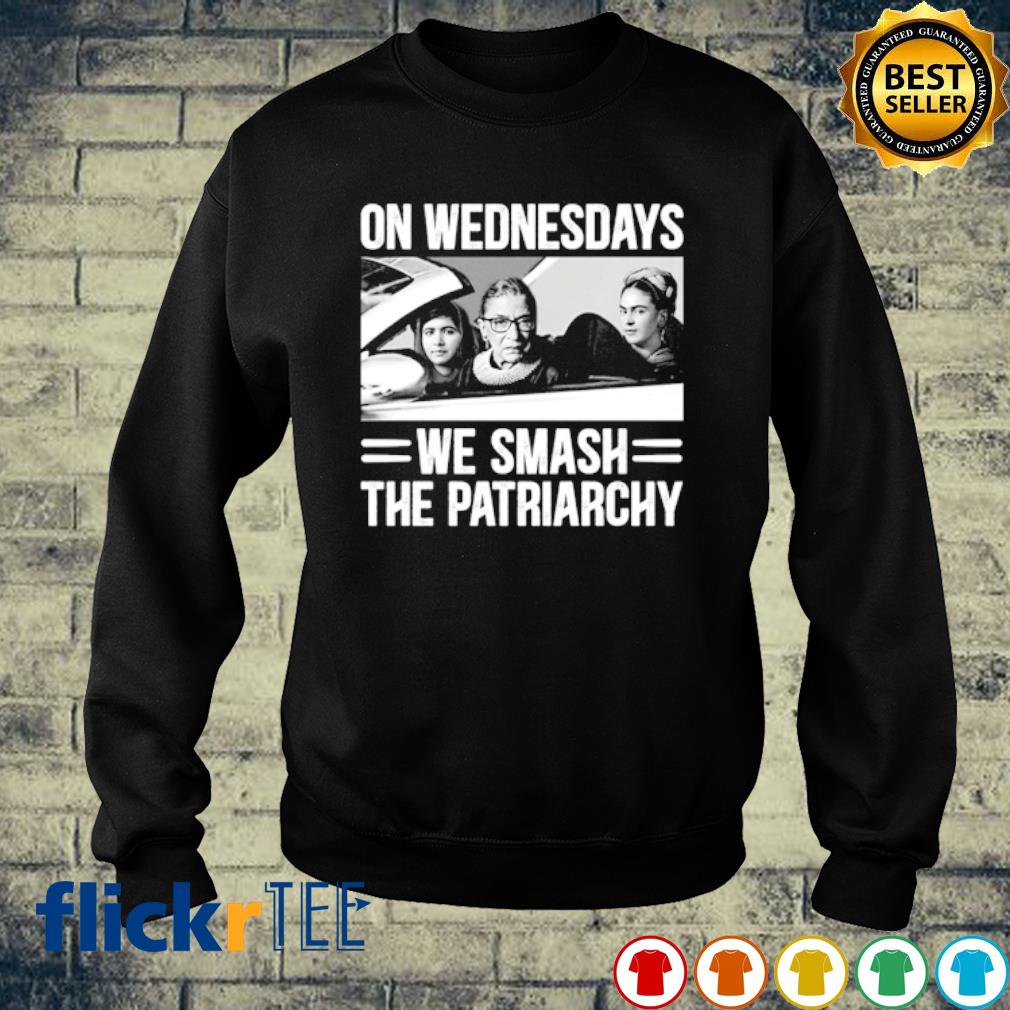 Ruth Bader Ginsburg on wednesdays we smash the patriarchy s sweater