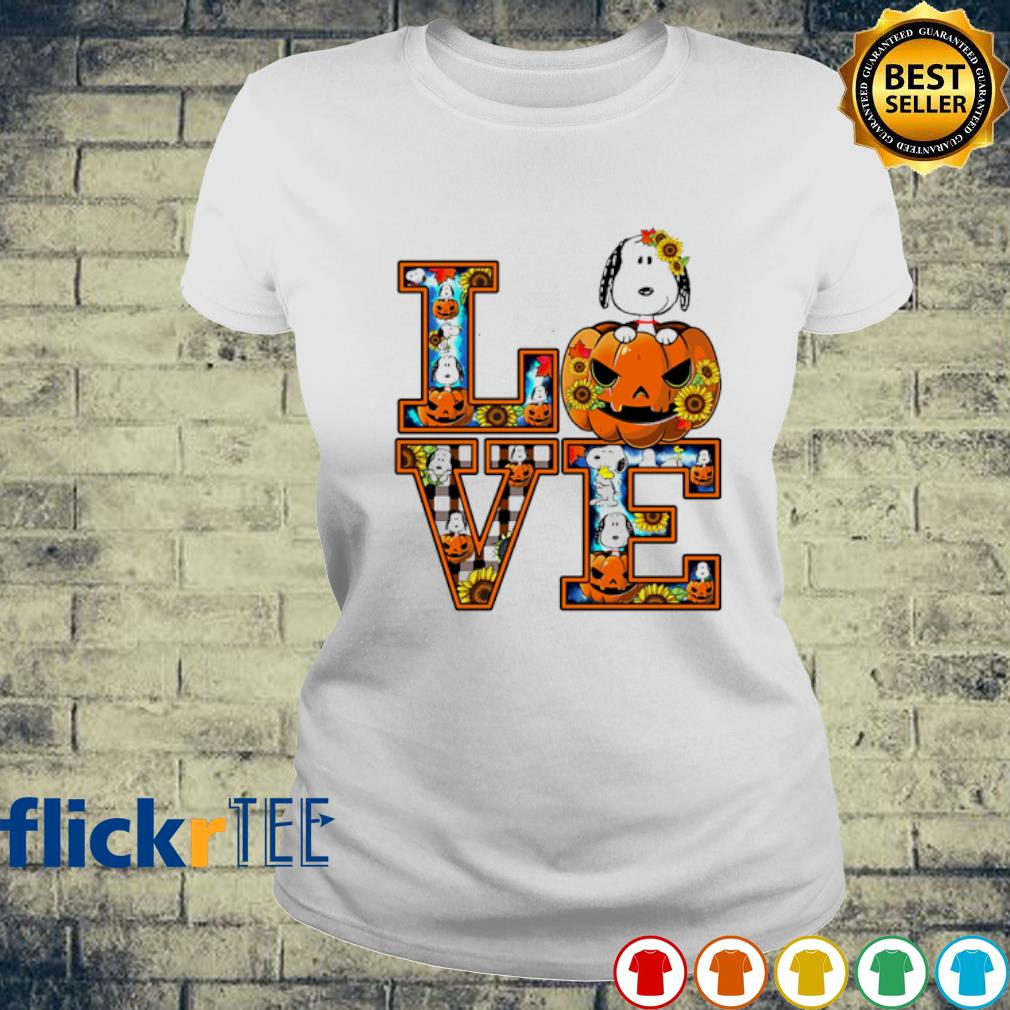 Snoopy pumpkin love Halloween s ladies-tee