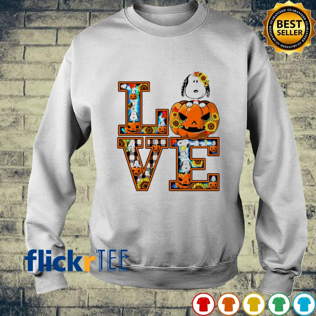 Snoopy pumpkin love Halloween s sweater
