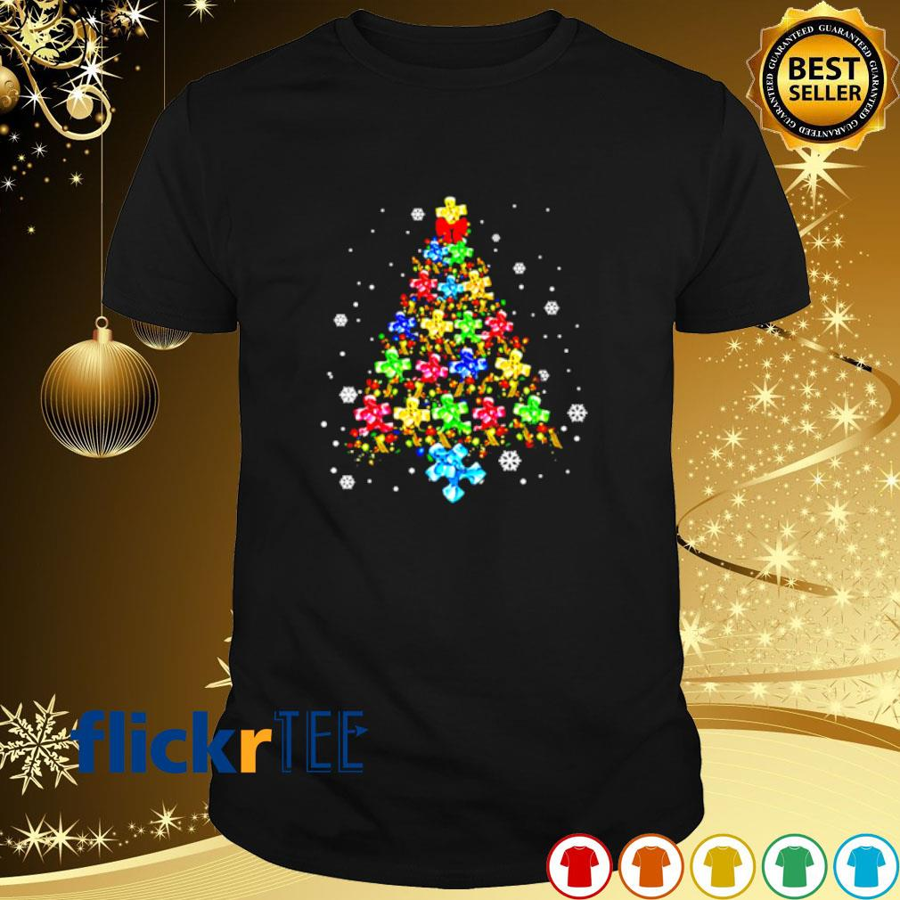 Autism as Christmas tree shirt
