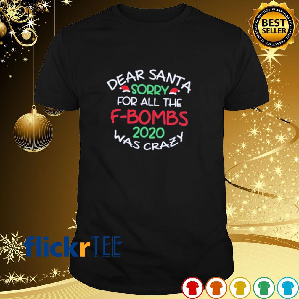 Dear Santa sorry for all the F-bombs 2020 was crazy shirt