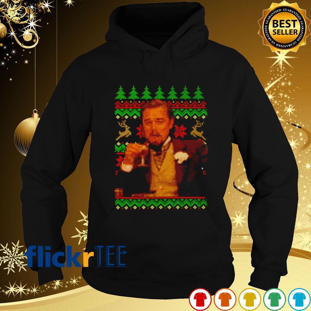 Dicaprio Drinking wine Christmas s hoodie