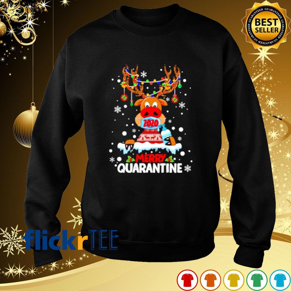 Leopard Reindeer face mask merry quarantine Christmas s sweater