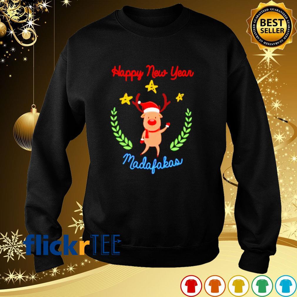 Reindeer Happy New Year madafakas s sweater