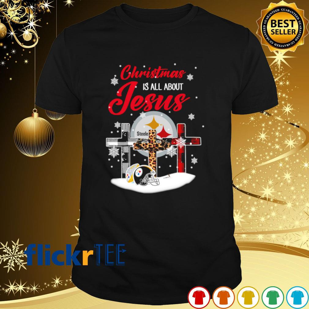 Steelers Christmas is all about Jesus Christmas shirt