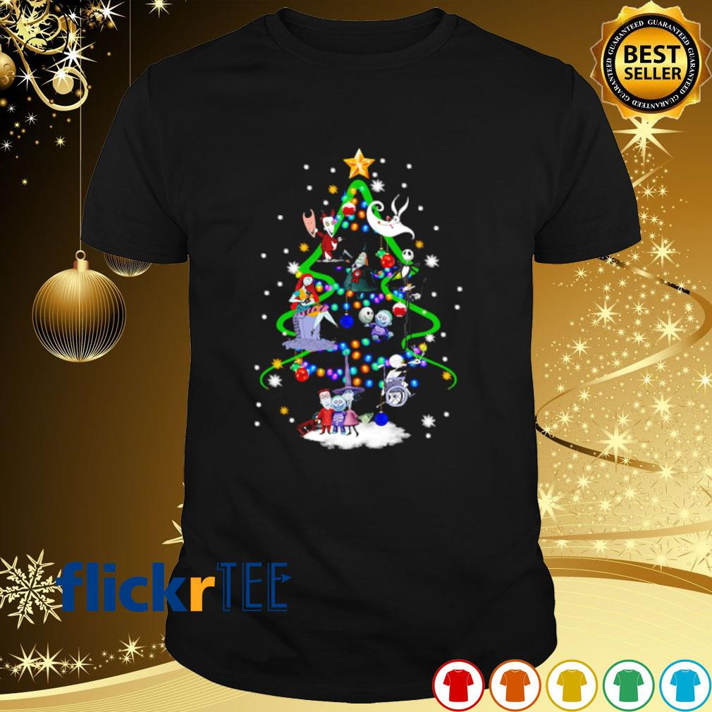 The Nightmare before Christmas characters as Christmas tree shirt