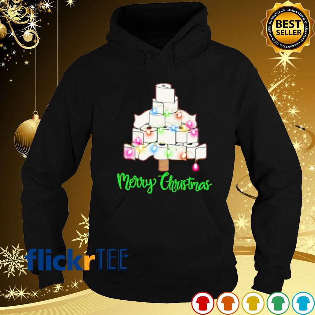 Tolet paper as Christmas tree merry Christmas s hoodie