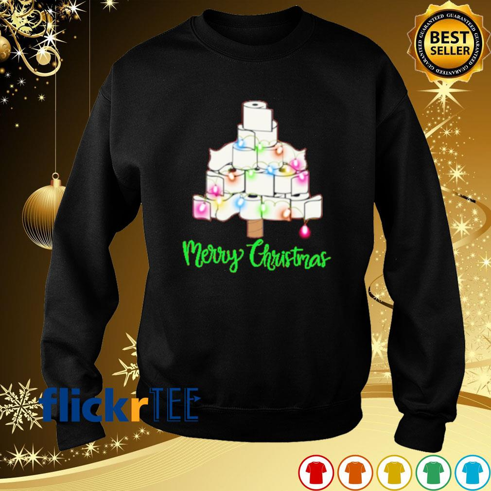 Tolet paper as Christmas tree merry Christmas s sweater