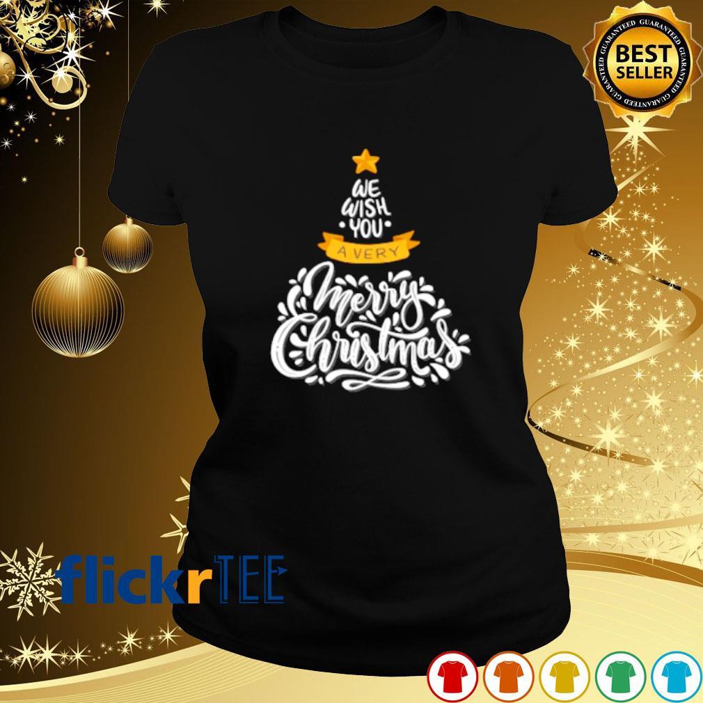 We wish you a very merry Christmas s ladies-tee
