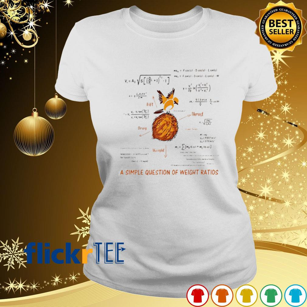 Math a simple question of weight ratios s ladies-tee
