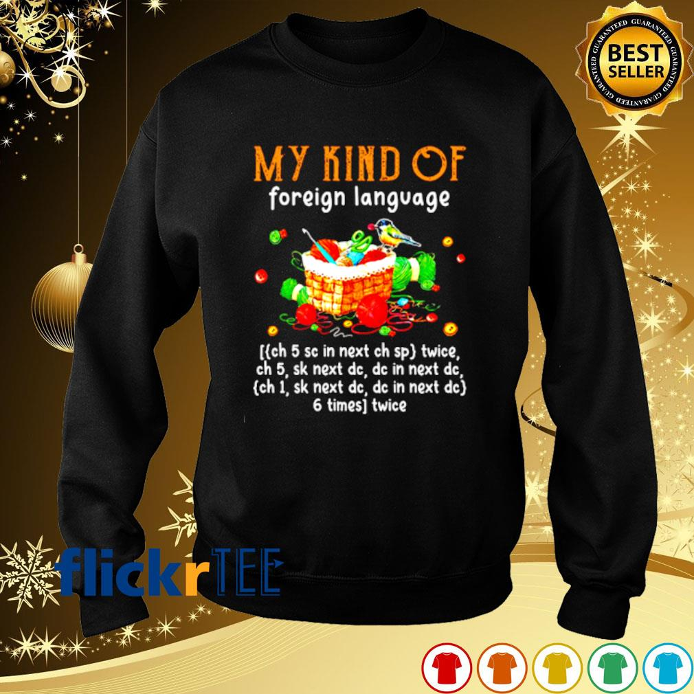 Yarn my kind of foreign language s sweater