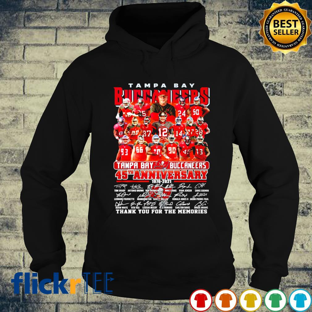 45 years of Tampa Bay Buccaneers 1976 2021 thank you for the memories s hoodie